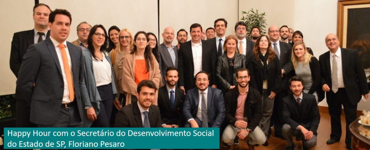 Happy Hour com o Secretário do Desenvolvimento Social do Estado de SP, Floriano Pesaro