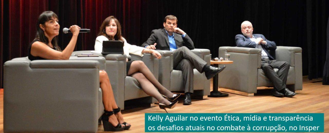 Kelly Aguilar no evento Ética, mídia e transparência: os desafios atuais no combate à corrupção